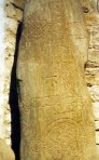 Class II Monymusk cross-slab Pictish carved stone of 8thCentury