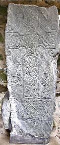 St Fergus's 'teaching' cross-slab at Chapel of St.Fergus,Dyce in Pictish Cé, present Aberdeen